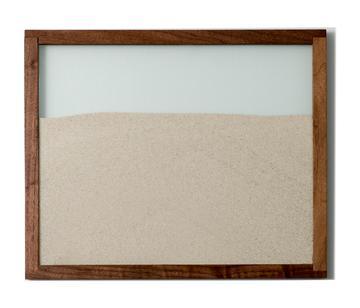 walnut natural wood frame designer ant farm