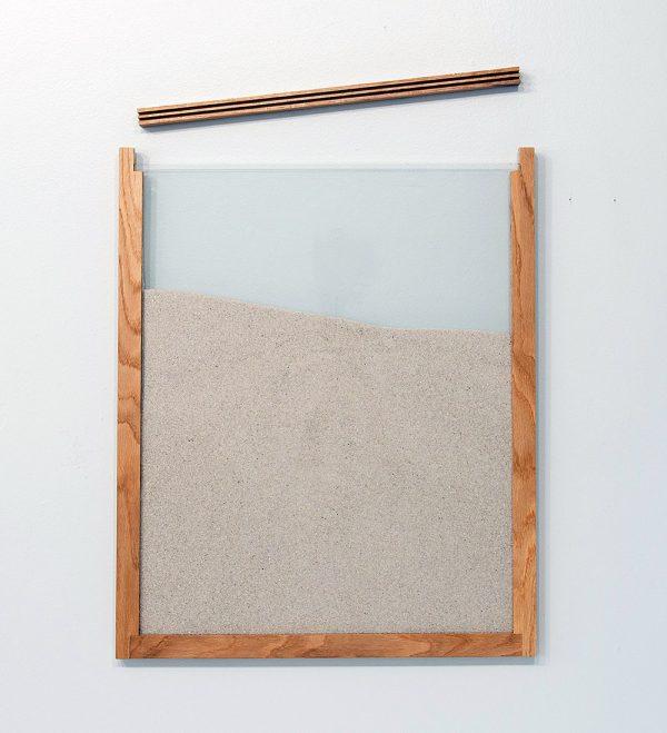 oak natural wood frame ant farm angles