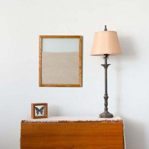 Oak Ant Farm portrait lamp and butterfly