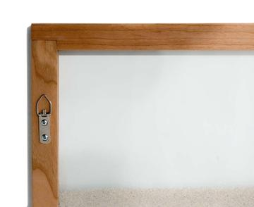 cherry natural wood frame ant farm alternate angles