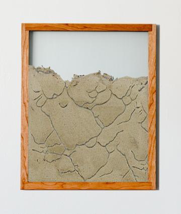 cherry natural wood frame ant farm portrait